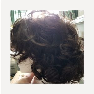 """13"""" natural color synthetic curly wig"""